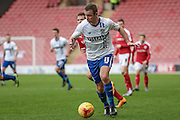 Tom Pope (Bury) during the Sky Bet League 1 match between Barnsley and Bury at Oakwell, Barnsley, England on 7 February 2016. Photo by Mark Doherty.