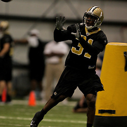 21 May 2009: Saints defensive back Pierson Prioleau (31) participates in drills during the New Orleans Saints Organized Team Activities (OTA's) held at the team's indoor practice facility in Metairie, Louisiana.