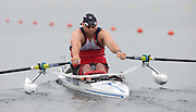 Eton Dorney, United Kingdom, Para Rowing, GBR2 AS Men' Single. Tom AGGAR, moving away from the start pontoon in the opening Heat of the event.   Eton Rowing Centre. FISA World Cup II, Dorney Lake. Friday  21/06/2013 Berkshire.  [Mandatory Credit Peter Spurrier/ Intersport Images]