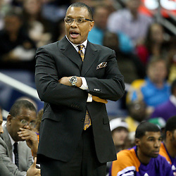 December 30, 2011; New Orleans, LA, USA; Phoenix Suns head coach Alvin Gentry against the New Orleans Hornets during the first half of a game at the New Orleans Arena. The Suns defeated the Hornets 93-78.   Mandatory Credit: Derick E. Hingle-US PRESSWIRE