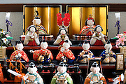 Hinamatsuri dolls set up at home to mark Girls Day on March 3rd a Japanese traditional culture
