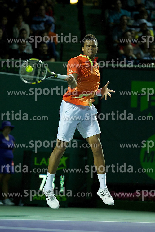 28.03.2012, Crandon Park, Key Biscayne, USA, ATP World Tour, Sony Ericsson Open, im Bild Jo Wilfred Tsonga competes // during of Sony Ericsson Open of ATA World Tour at Tennis Center at Crandon Park, Key Biscayne, USA on 2012/03/28. EXPA Pictures © 2012, PhotoCredit: EXPA/ Newspix/ Chaz Niell..***** ATTENTION - for AUT, SLO, CRO, SRB, SUI and SWE only *****