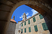 Old Town of Dubrovnik with tower of Dominican Monastery, Croatia