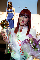 Urska Klavs winner of Miss Sports of Slovenia 2012, on April 21, 2012, in Festivalna dvorana, Ljubljana, Slovenia. (Photo by Urban Urbanc / Sportida.com)