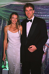 Tennis player ANNABEL CROFT and her husband MR MEL COLEMAN, at a ball in London on 30th June 1999. MTZ 26