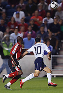Landon Donovan (10), Cyd Gray (98). The U.S. Men's National Team defeated Trinidad & Tobago 3-0 at Toyota Park in Bridgeview, IL on September 10, 2008.