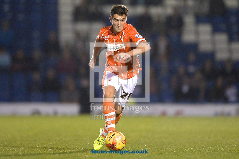 Martin Paterson of Blackpool during the Sky Bet League 1 match at Gigg Lane, Bury<br /> Picture by Ian Wadkins/Focus Images Ltd +44 7877 568959<br /> 31/10/2015