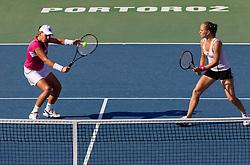 Marina Erakovic of New Zealand and Anna Chakvetadze of Russia at 2nd Round of Doubles at Banka Koper Slovenia Open WTA Tour tennis tournament, on July 22, 2010 in Portoroz / Portorose, Slovenia. (Photo by Vid Ponikvar / Sportida)