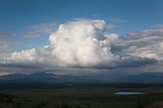 Loch Derry seen under a cloud from Craig Airie Fell, Borders, Scotland