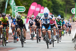 Lotta Lepistö (FIN) wins sprint finish at OVO Energy Women's Tour 2018 - Stage 5, a 122 km road race from Dolgellau to Colwyn Bay, United Kingdom on June 17, 2018. Photo by Sean Robinson/velofocus.com