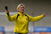 Kerry Katona during the Sellebrity Soccer match between Katie Price XI and Kerry Katona XI at the Pirelli Stadium, Burton upon Trent, England on 29 April 2018. Picture by Richard Holmes.