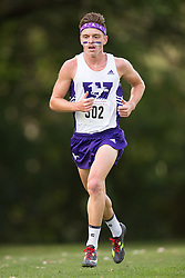 Chris Balestrini of the Western Mustangs  (302) competes in the men's 8k  at the 2015 Western International Cross country meet in London Ontario, Saturday,  September 26, 2015.<br /> Mundo Sport Images/ Geoff Robins