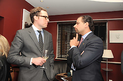 A party to promote the exclusive Puntacana Resort & Club - the Caribbean's Premier Golf & Beach Resort Destination, was held at The Groucho Club, 45 Dean Street London on 12th May 2010.<br /> <br /> Picture shows:-Right, FRANK ELIAS RAINIERI