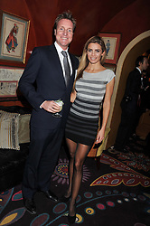 HENRY BECKWITH and JOANNE SALLEY at the Johnnie Walker Blue Label and David Gandy partnership launch party held at Annabel's, 44 Berkeley Square, London on 5th February 2013.
