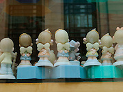 back view of a group of toy angels.