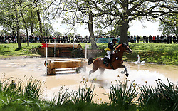 Wieloch's Utah Sun ridden by Louise Romeike on the Cross Country during day four of the 2019 Mitsubishi Motors Badminton Horse Trials at The Badminton Estate, Gloucestershire. PRESS ASSOCIATION Photo. Picture date: Saturday May 4, 2019. See PA story EQUESTRIAN Badminton. Photo credit should read: David Davies/PA Wire