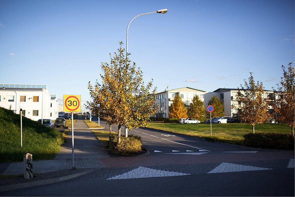 Intersection in Arbæ Reykjavik