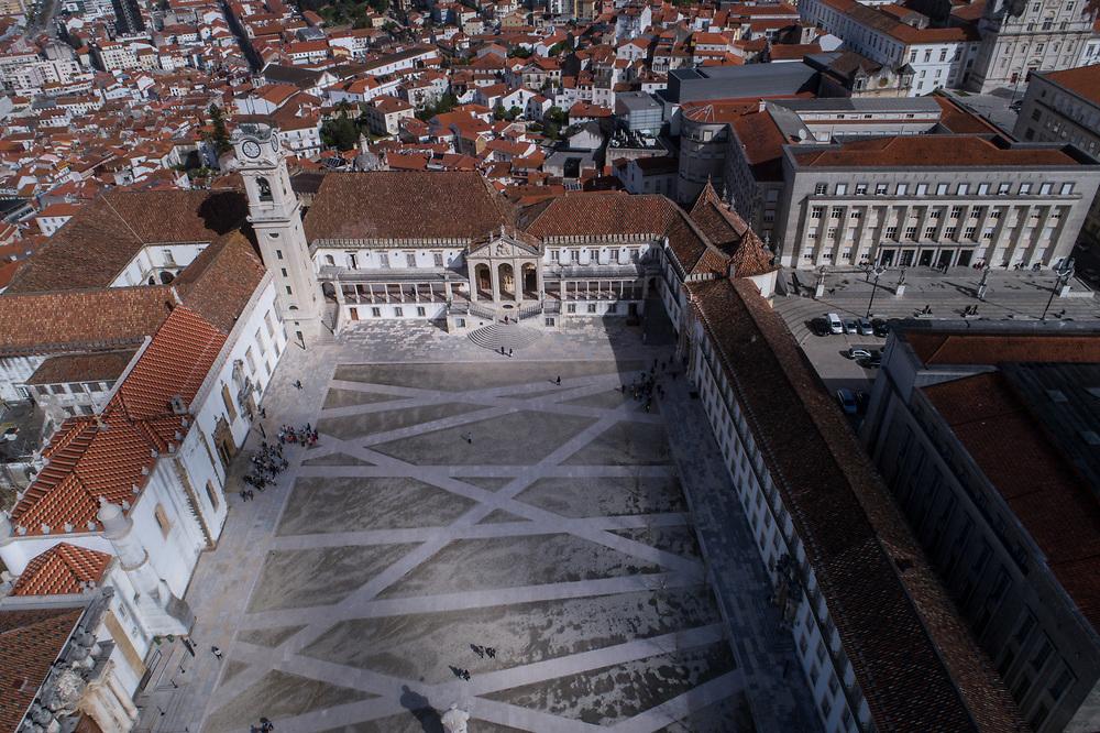 Coimbra, Portugal - March 30 of 2017:  Brasileiros imigrantes em Portugal.  A universidade de Coimbra.  Foto: Caio Guatelli