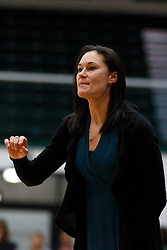Nov 16, 2011; San Francisco CA, USA;  San Francisco Lady Dons head coach Jennifer Azzi on the sidelines against the Cal Poly Mustangs during the first half at War Memorial Gym.  Cal Poly defeated San Francisco 80-66. Mandatory Credit: Jason O. Watson-US PRESSWIRE