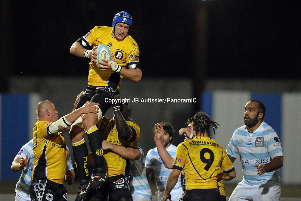 Christoffer Van Der Westhuyzen - Racing Metro 92 / Albi - Top 14 Top14 - Rugby - 27.11.2009 - largeur action duel opposition
