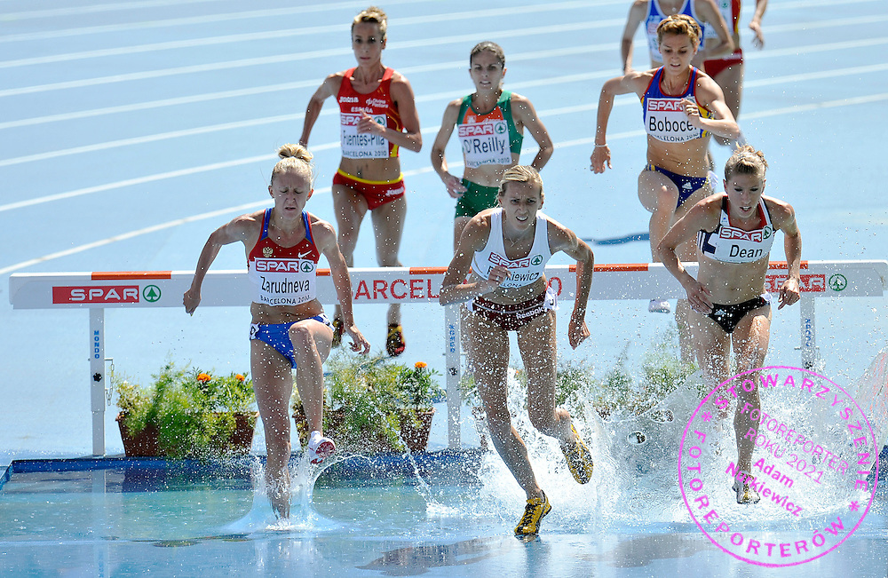 (C) WIOLETTA FRANKIEWICZ ( MAIDEN NAME: JANOWSKA ) (POLAND) COMPETES IN THE WOMEN'S 3000 METERS STEEPLECHASE DURING THE 2010 EUROPEAN ATHLETICS CHAMPIONSHIPS AT OLYMPIC STADIUM IN BARCELONA, SPAIN...SPAIN , BARCELONA , JULY 28, 2010..( PHOTO BY ADAM NURKIEWICZ / MEDIASPORT )..PICTURE ALSO AVAIBLE IN RAW OR TIFF FORMAT ON SPECIAL REQUEST.