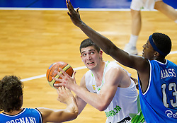 Ziga Dimec of Slovenia vs Awudu Abass of Italy during basketball match between National team of Slovenia and Italy in First Round of U20 Men European Championship Slovenia 2012, on July 12, 2012 in Domzale, Slovenia.  (Photo by Vid Ponikvar / Sportida.com)