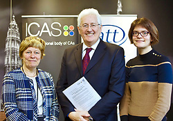 The findings of a survey on Scotland's devolved taxes by tax and accountancy bodies, ICAS and CIOT, were presented at the ICAS offices in Edinburgh by (left to to right) Charlotte Barber, director of taxation at ICAS; Jim Robertson, chairman of the Scottish Taxes Policy Forum; and Joanne Walker, technical officer at the CIOT. pic copyright Terry Murden @edinburghelitemedia