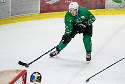 Aljaz Chvatal of SZ Olimpija during ice hockey match between HK SZ Olimpija and WSV Sterzing Broncos Weihenstephan (ITA) in Round #12 of AHL - Alps Hockey League 2018/19, on October 30, 2018, in Hala Tivoli, Ljubljana, Slovenia. Photo by Vid Ponikvar / Sportida