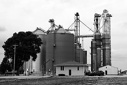 30 July 2012:   Hudson Grain Coop grain storage facility in the town of Hudson in McLean County of Illinois