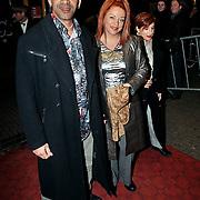 Premiere Angela's Asses Tuschinski, Sylvia Millecam en vriend Nol Willemsen