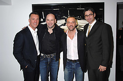 Left to right, FRANK FERTITTA, DANA WHITE the current President of the Ultimate Fighting Championship, LORENZO FERTITTA and DANA WHITE the current President of the Ultimate Fighting Championship and at a private view of Octagan a showcase of work of photographer Kevin Lynch featuring the stars of the Ultimate Fighter Championship held at Hamiltons gallery, Mayfair, London on 17th January 2008.<br />