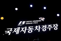 21.10.2010, Korea International Circuit, Yeongam, KOR, F1 Grandprix of Korea, im Bild Korean Grand Prix Impressions, EXPA Pictures © 2010, PhotoCredit: EXPA/ InsideFoto/ Hasan Bratic *** ATTENTION *** FOR AUSTRIA AND SLOVENIA USE ONLY!
