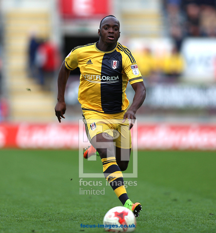 Neeskens Kebano of Fulham chases the ball during the Sky Bet Championship match at the New York Stadium, Rotherham<br /> Picture by James Wilson/Focus Images Ltd 07709 548263<br /> 01/04/2017