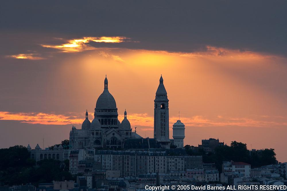 Church of Sacre Coeur, Montmartre, Paris, France