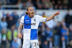 Stuart Sinclair of Bristol Rovers shouts - Rogan Thomson/JMP - 11/08/2017 - FOOTBALL - Memorial Stadium - Bristol, England - Bristol Rovers v Cardiff City - EFL Cup First Round.