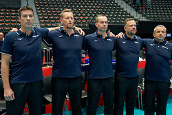 13-09-2019 NED: EC Volleyball 2019 Czech Republic - Ukraine, Rotterdam<br /> First round group D / Staff Czech Republic