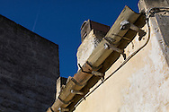 Detail from old building. Bons are used as support
