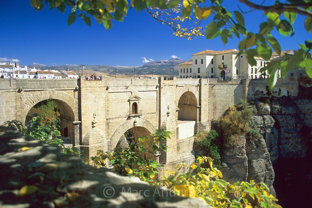 The New Bridge (Puente Nuevo) in Ronda, Spain, built in the 18th Century.
