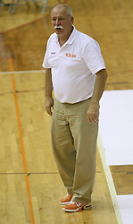 Coach of Netherlands team Meindert Van Veen at basketball qualification match of women division B  between National teams of Slovenia and Netherlands, on August 27, 2008, in Vitranc Hall, Kranjska Gora. Win of NED 83:81. (Photo by Vid Ponikvar / Sportida)