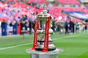 The FA Cup pitchside before the The FA Cup Final match between Manchester City and Watford at Wembley Stadium, London, England on 18 May 2019.