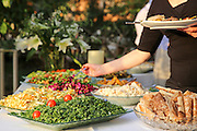 Outdoor Salad Bar on a buffet table