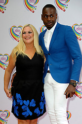 Image ©Licensed to i-Images Picture Agency. 02/06/2014. London, United Kingdom. Vanessa Feltz & Ben Ofoedu attends the Health Lottery tea party at The Savoy Hotel. Picture by Chris Joseph / i-Images