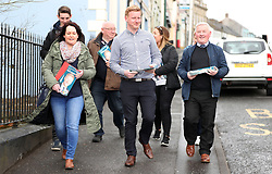 SDLP candidate Daniel McCrossan in Fintona canvasing for the upcoming West Tyrone by-election.