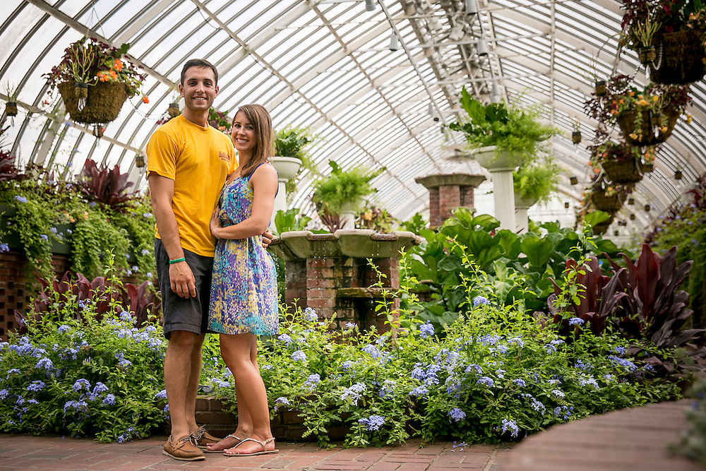 August 4-7, 2016, Pittsburgh, PA:<br /> Billie Weiss and Alaina Stipcak pose at Phipps Conservatory during a trip to Pittsburgh Pennsylvania Thursday, August 4 through Sunday, August 7, 2016.<br /> (Photo by Billie Weiss)