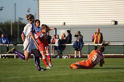 Christie Murray of Bristol Academy takes a shot at goal - Mandatory byline: Dougie Allward/JMP - 07966386802 - 27/08/2015 - FOOTBALL - Stoke Gifford Stadium -Bristol,England - Bristol Academy Women FC v Oxford United Women - FA WSL Continental Tyres Cup