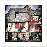 Vitré, Bretagne, France - Colour version. Inkjet pigment print on Canson Infinity Rag Photographique 310gsm 100% cotton museum grade Fine Art and photo paper.<br />