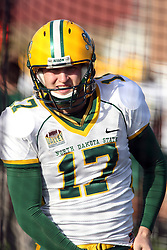 17 November 2012:  Adam Keller during an NCAA Missouri Valley Football Conference football game between the North Dakota State Bison and the Illinois State Redbirds at Hancock Stadium in Normal IL