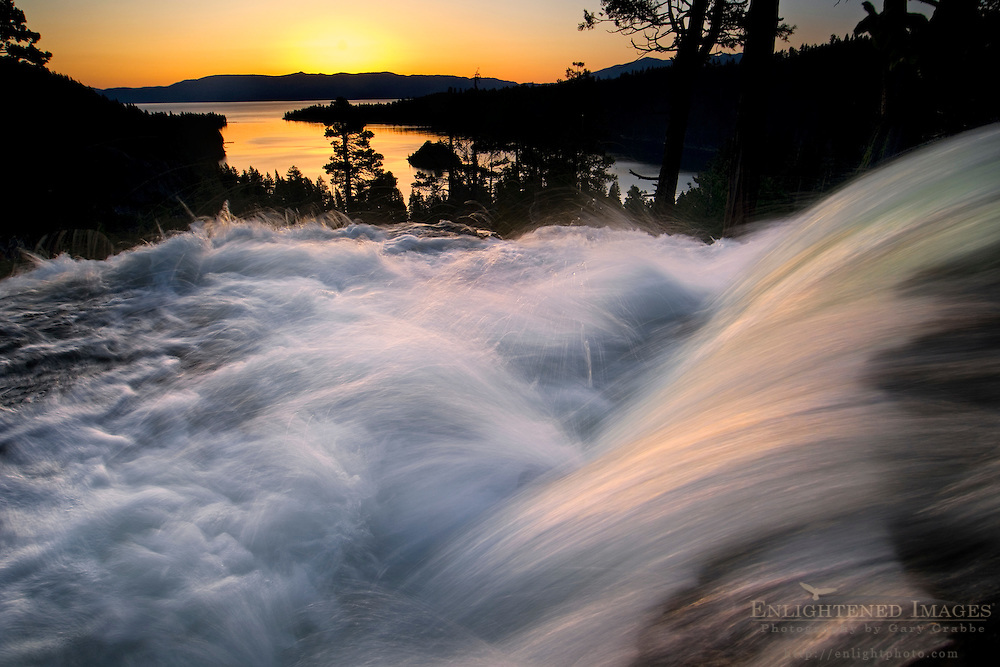 Sunrise at Eagle Falls above Emerald Bay, near South Lake Tahoe, California