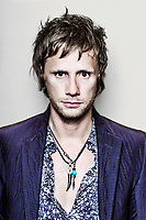 Paris, France - July 04, 2012: Portrait of the english rock group Muse drummer Dominic Howard at Paris, France on july 4th, 2012