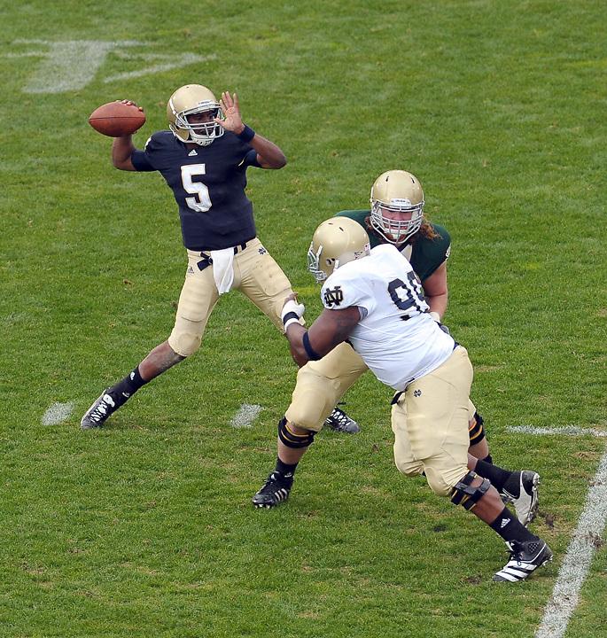 Quarterback Everett Golson (5)